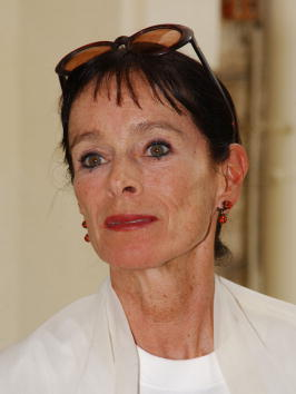 Dancer and actress Geraldine Chaplin, daughter of Charlie Chaplin, at a press confernce for the M2K Group  during the 55th Cannes Film Festival in Cannes, France, May 16, 2002.  Photo by Frank Micelotta/ImageDirect.